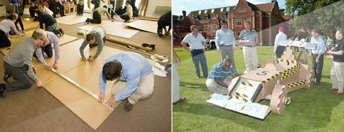 team building construction de char en carton. Black Bedroom Furniture Sets. Home Design Ideas