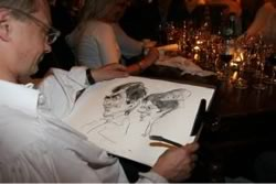 Close Up - Caricaturiste restaurant groupe 