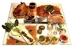 Plateau repas Cacher<br/>Le Chateaubriand restaurant groupe