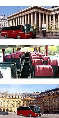 Transfert bus restaurant groupe