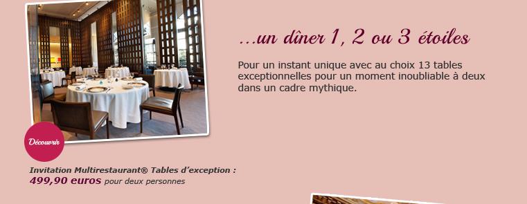 dîner de prestige Paris